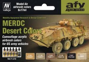 Vallejo 71212 Zestaw Model Air 6 farb - MERDC Desert Colors