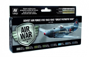 Vallejo 71198 Zestaw Air War 8 farb - Soviet Air Force VVS 1943-1945