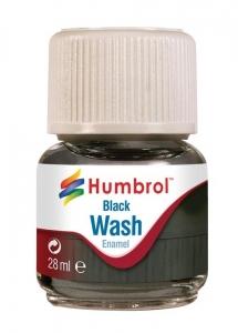 Humbrol AV0201 Enamel Wash Black 28ml