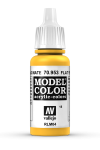 Vallejo 70953 Model Color 70953 15 Flat Yellow