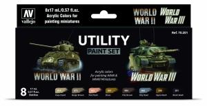 Vallejo 70201 Zestaw World War II & III 8 farb - Utility Paint Set