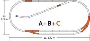 Roco 61102 Zestaw torów C geoLine