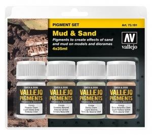 Vallejo 73191 Zestaw Pigmenty 4 kolory - Mud & Sand