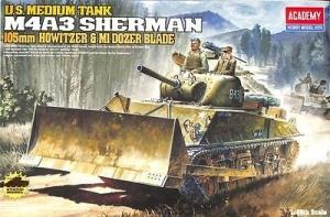 M4A3 Sherman 105 mm Dozer Blade, 1:35
