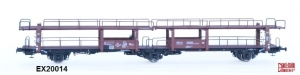 Exact-Train EX20014 Wagon do transportu samochodów Offs 55, 585015, Broekman Motorships & S.I.T.F.A., NS, Ep. III