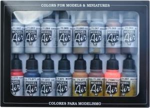 Vallejo 71181 Zestaw Model Air 16 farb - Metallic Effects