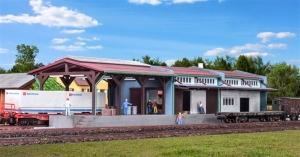 Kibri 37809 Magazyn kolejowy z rampą N