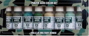 Vallejo 70126 Zestaw Panzer Aces 8 farb - Allied Tank Crew uniforms