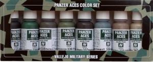 Vallejo 70128 Zestaw Panzer Aces 8 farb - German Tank Crew uniforms