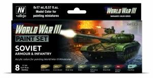 Vallejo 70221 Zestaw World War III 8 farb - Soviet Armour & Infantry