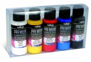 Vallejo 62101 Zestaw Premium RC Color 5 farb - Opaque Basics