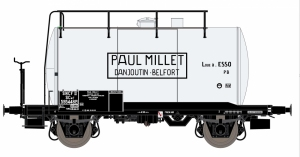 Exact-Train EX20621 Wagon cysterna 30m3 Uerdinger, 595448 Millet, SNCF, Ep. III