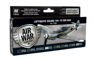Vallejo 71166 Zestaw Air War 8 farb - Luftwaffe Colors 1941 to end-war