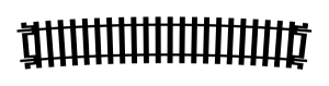 Hornby R628 Tor łukowy R852 mm, 11,25st.