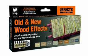Vallejo 71187 Zestaw Model Air 8 farb - Old & New Wood Effects