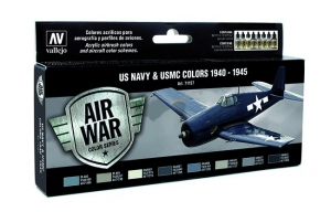 Vallejo 71157 Zestaw Air War 8 farb - WWII USN Aircraft