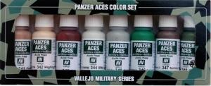 Vallejo 70129 Zestaw Panzer Aces 8 farb - 6 Skin, camouflage