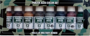 Vallejo 70122 Zestaw Panzer Aces 8 farb - 1 Rust, tracks, rubber