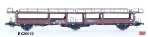 Exact-Train EX20019 Wagon do transportu samochodów Laes 542,  21 RIV 80 DB 413 0 110-0, DB, Ep. IV