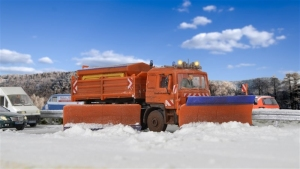Kibri 15219 MAN z pługiem śnieżnym i piaskarką