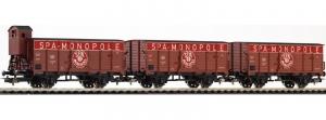 Piko 58339 Trzy wagony towarowe SPA Monopole, B, Ep. III