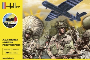 Heller 35313 Starter Set - A.S. 51 Horsa + Paratroopers - 1:72