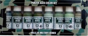 Vallejo 70127 Zestaw Panzer Aces 8 farb - Russian, Italian, Japanese Crew uniforms