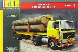 Heller 81704 Volvo F12-20 z naczepą do drewna - 1:32