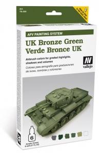 Vallejo 78407 AFV Painting System: UK Bronze Green