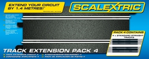 Scalextric C8526 Track Extension Pack 4 - Proste