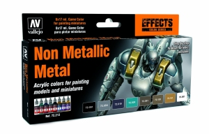 Vallejo 72212 Zestaw Game Color 8 farb - Non Metallic Metal