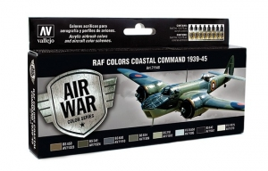 Vallejo 71148 Zestaw Air War 8 farb - RAF Colors Coastal Command 1939-1945