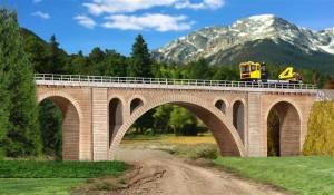 Kibri 39720 Kamienny most kolejowy jednotorowy