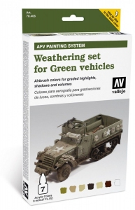 Vallejo 78406 AFV Weathering System: Weathering for Green vehicles