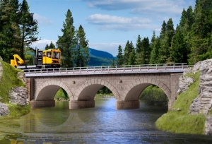Kibri 39721 Kamienny most kolejowy jednotorowy