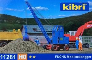 Kibri 11281 H0 Koparka kołowa Fuchs 301