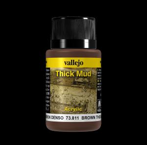 Vallejo 73811 Thick Mud 40 ml. Brown Mud