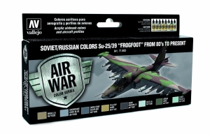 Vallejo 71603 Zestaw Air War 8 farb - Soviet / Russian colors Su-25/39 Frogfoot from 80 to present