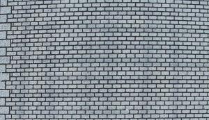 Heki 72172 Mur z szarej cegły H0/TT 50x20 cm