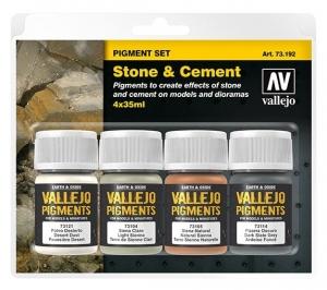 Vallejo 73192 Zestaw Pigmenty 4 kolory - Stone & Cement