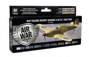 Vallejo 71163 Zestaw Air War 8 farb - WWII RAF Desert