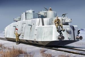 Hobby Boss 85516 Radziecki pociąg pancerny MBV-2 (działo KT-28, późne) 1:35