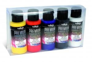 Vallejo 62104 Zestaw Premium RC Color 5 farb - Candy Color