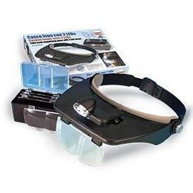 Artesania Latina 27054-1 Okulary powiększające z lampką led i wymiennymi soczewkami