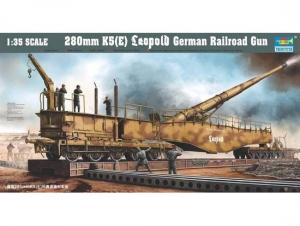 Trumpeter 00207 Niemieckie działo kolejowe Leopold 280mm K5 (E) - 1:35