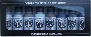 Vallejo 71176 Zestaw Model Air 8 farb - Metallic Colors