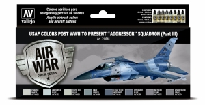 Vallejo 71618 Zestaw Air War 8 farb - USAF colors post WWII to present Aggressor Squadron Part III