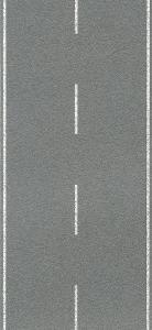 Heki 6572 Ulica - Jezdnia jednopasmowa, betonowa, skala H0