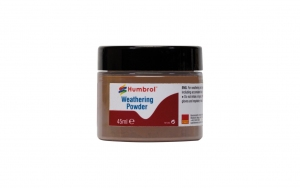 Humbrol AV0019 Pigment Weathering Powder 45 ml Dark Rust