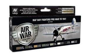 Vallejo 71149 Zestaw Air War 8 farb - RAF Day Fighters Pre-War to 1941